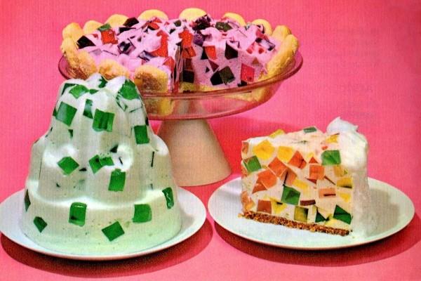 Vintage Jell-O Crown JewelWindow Glass dessert recipes (2)