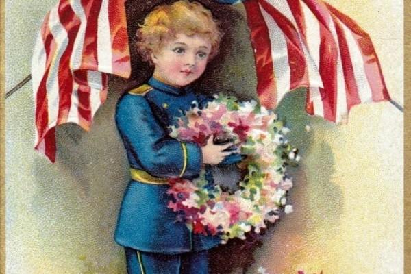20 vintage Memorial Day postcards