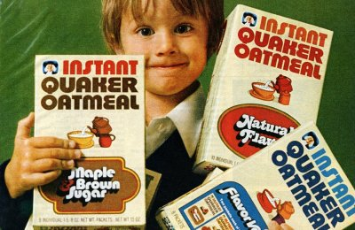 Vintage Quaker Instant Oatmeal: Remember all these different flavors?