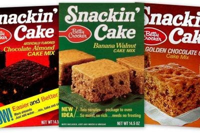 Vintage Snackin Cake box fronts