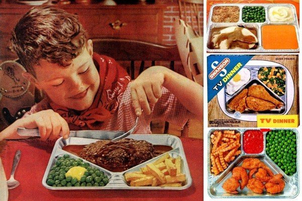 Vintage TV dinners from the 1960s