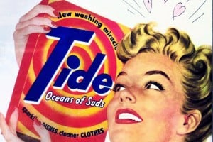 Vintage Tide laundry detergent ads from the 1950s