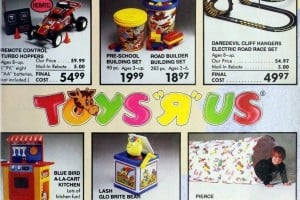 Vintage Toys R Us catalog of Christmas gifts 80s Out of this World Toy Book (1986)