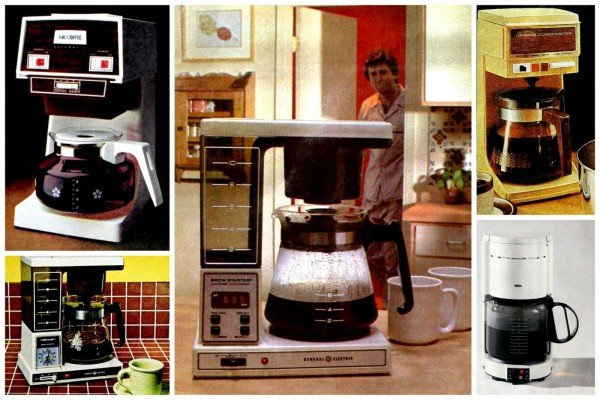 After vintage automatic coffeemakers like these were invented, mornings were never the same