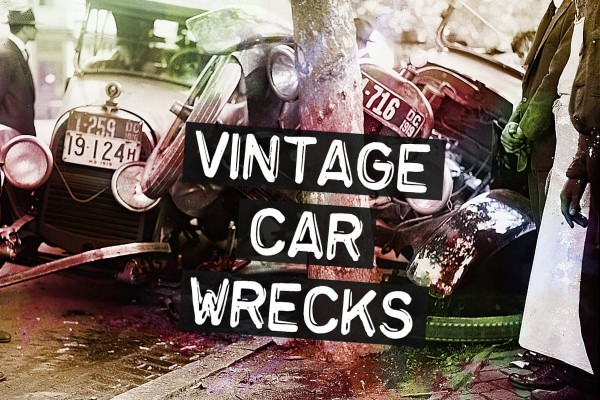 See 35 vintage car wrecks from the days before seat belts & airbags
