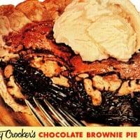 Betty Crocker's chocolate brownie pie recipe from the '50s
