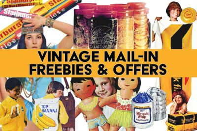 Vintage freebies and offers - Branded retro swag