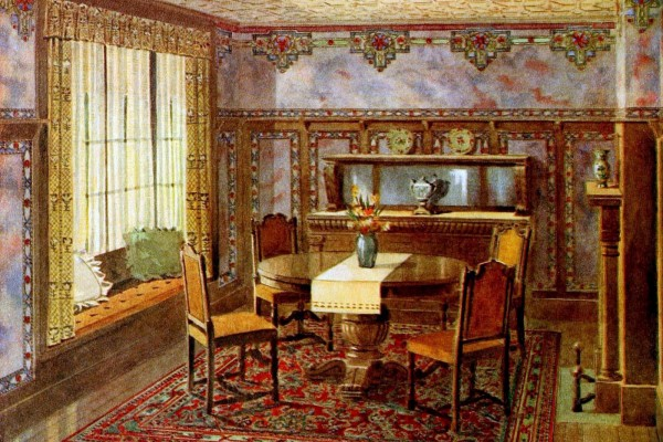 Vintage home wall decor from the 1910s, with 40 different room examples to inspire