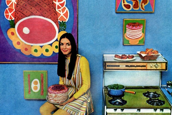 The Tappan Gallery Gas Range: Trendy retro kitchen appliances with bonus features (1968)