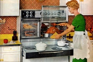 8 vintage sixties kitchens with Flair ranges: Pull-out electric stoves and glass oven doors that opened upwards