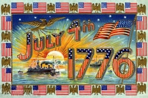 Vintage postcards for the 4th of July to see & share