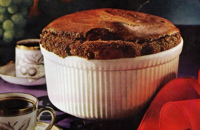 How to make a chocolate souffle with pudding mix (1961)