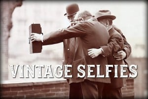 Vintage selfie history