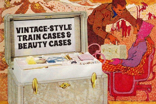 Vintage train cases - Beauty case luggage