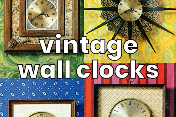 48 retro wall clocks in traditional & modern designs from the 1950s, 1960s & 1970s