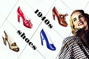 Women's shoes from the 1940s: Stylish high-heeled vintage footwear