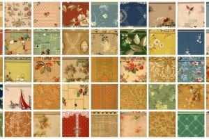 Walls with a fashion future! Vintage wallpaper samples from 1940