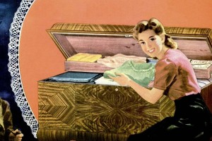 What every girl wanted: A cedar-lined Lane hope chest for linens and her trousseau