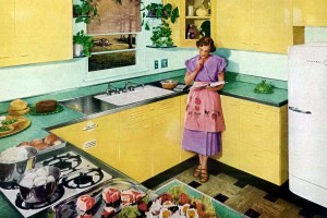 Retro yellow kitchens from yesteryear