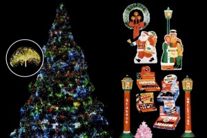 See some colorful vintage Christmas lights, and how trees & towns used to shine back in the olden days