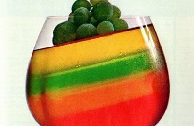 How to make tilted rainbow-striped Jello the '60s way