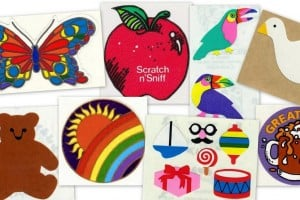 Remember the vintage stickers from the '80s that came on rolls & sheets?
