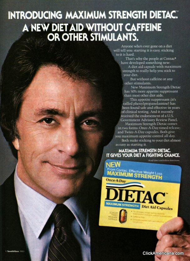 Bill Bixby For Maximum Strength Dietac 1981 Click