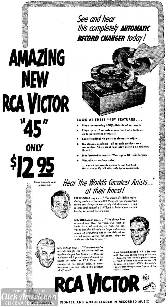 New RCA Victor 45 automatic record changer (1949)