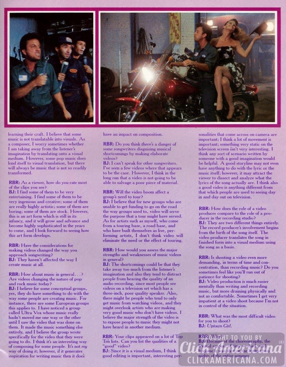 Billy Joel - Souvenir tour program (1984)