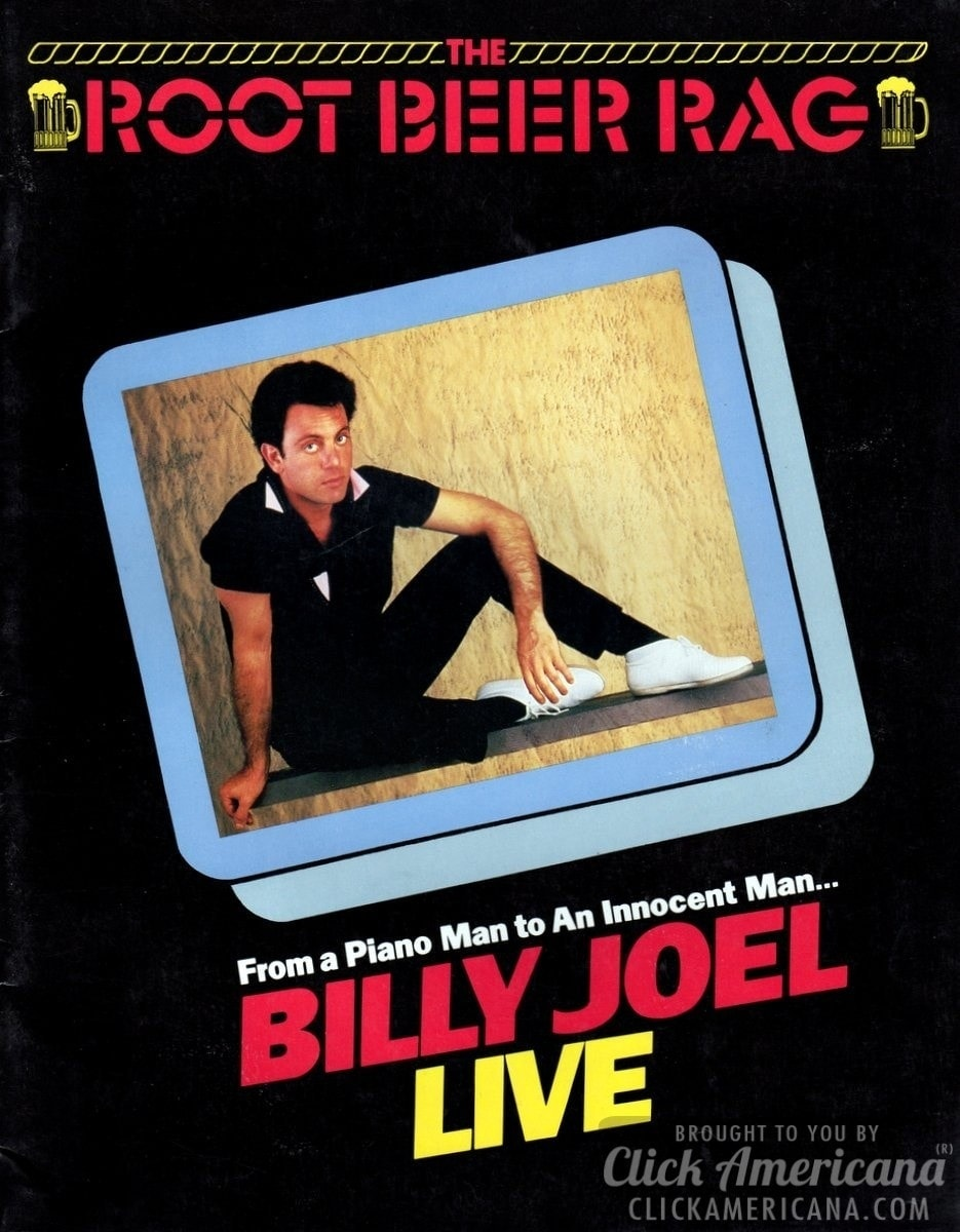 Billy Joel - Souvenir tour program cover (1984)