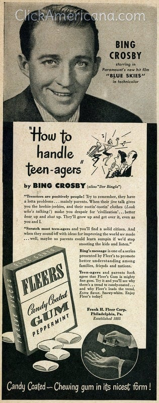 Teen-agers and parents both agree that Fleer's Gum is mighty fine gum.