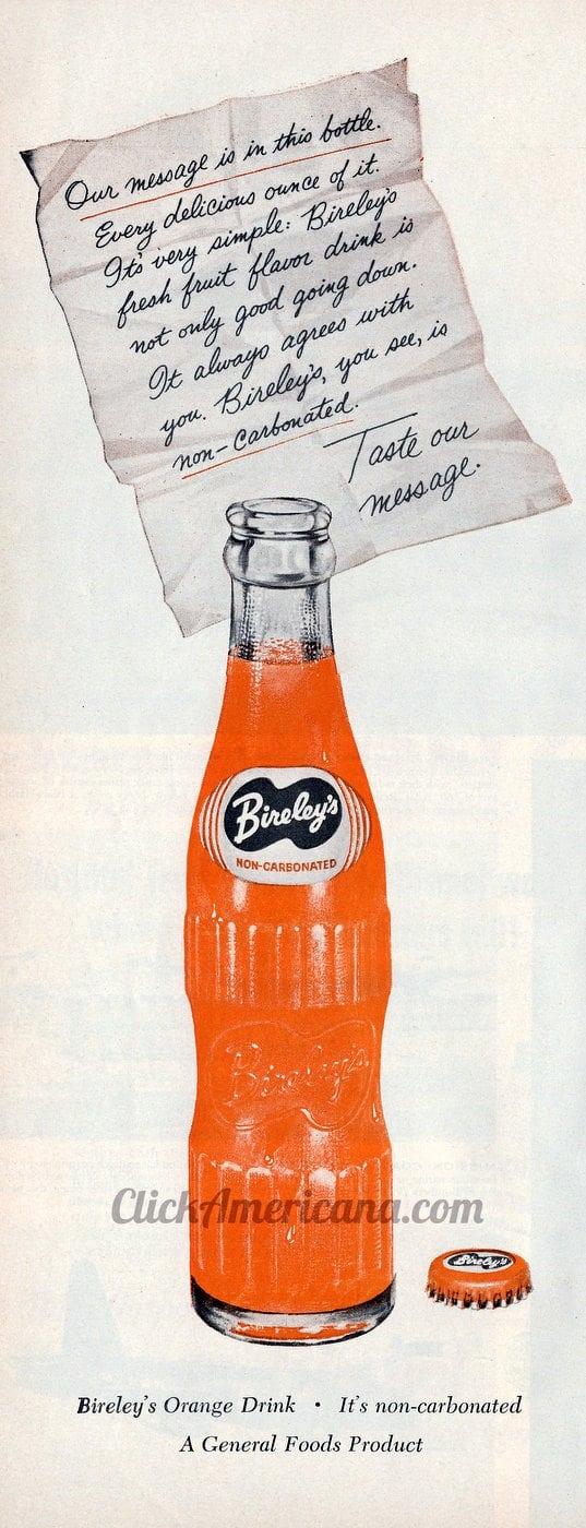 Vintage Bireley's orange drink