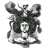 Crazy new styles of coiffure (1864)