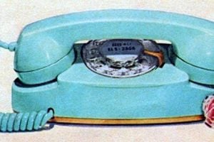 blue princess telephone 1962