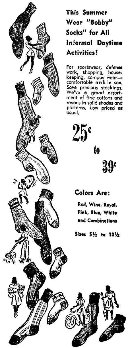 Girls: Bobby socks are bad for your health (1945)