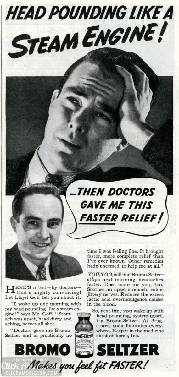 Smart men take Bromo-Seltzer (1936 & 1937)