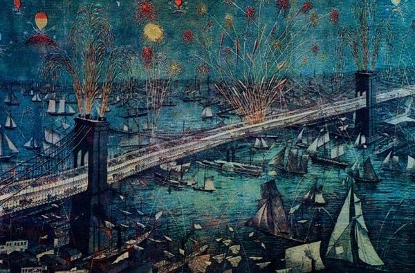 Brooklyn Bridge opens (1883)