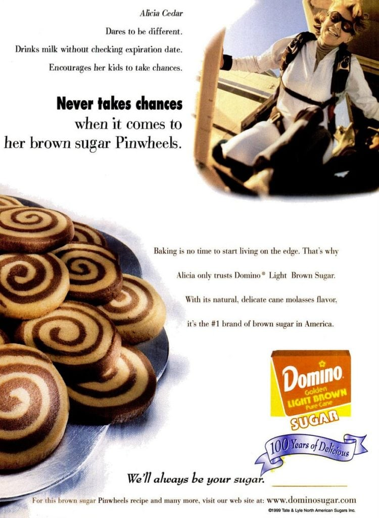 Brown sugar pinwheel cookie recipe (1994)