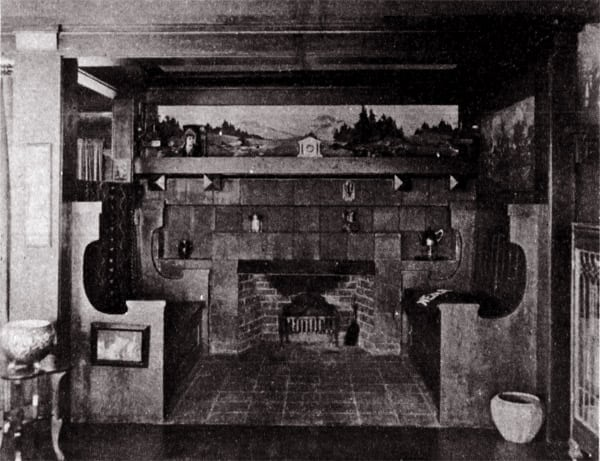 Fireplaces in California homes (1910) - Click Americana