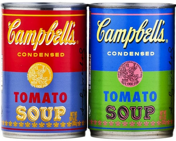 Andy Warhol's Campbell's Soup cans become real