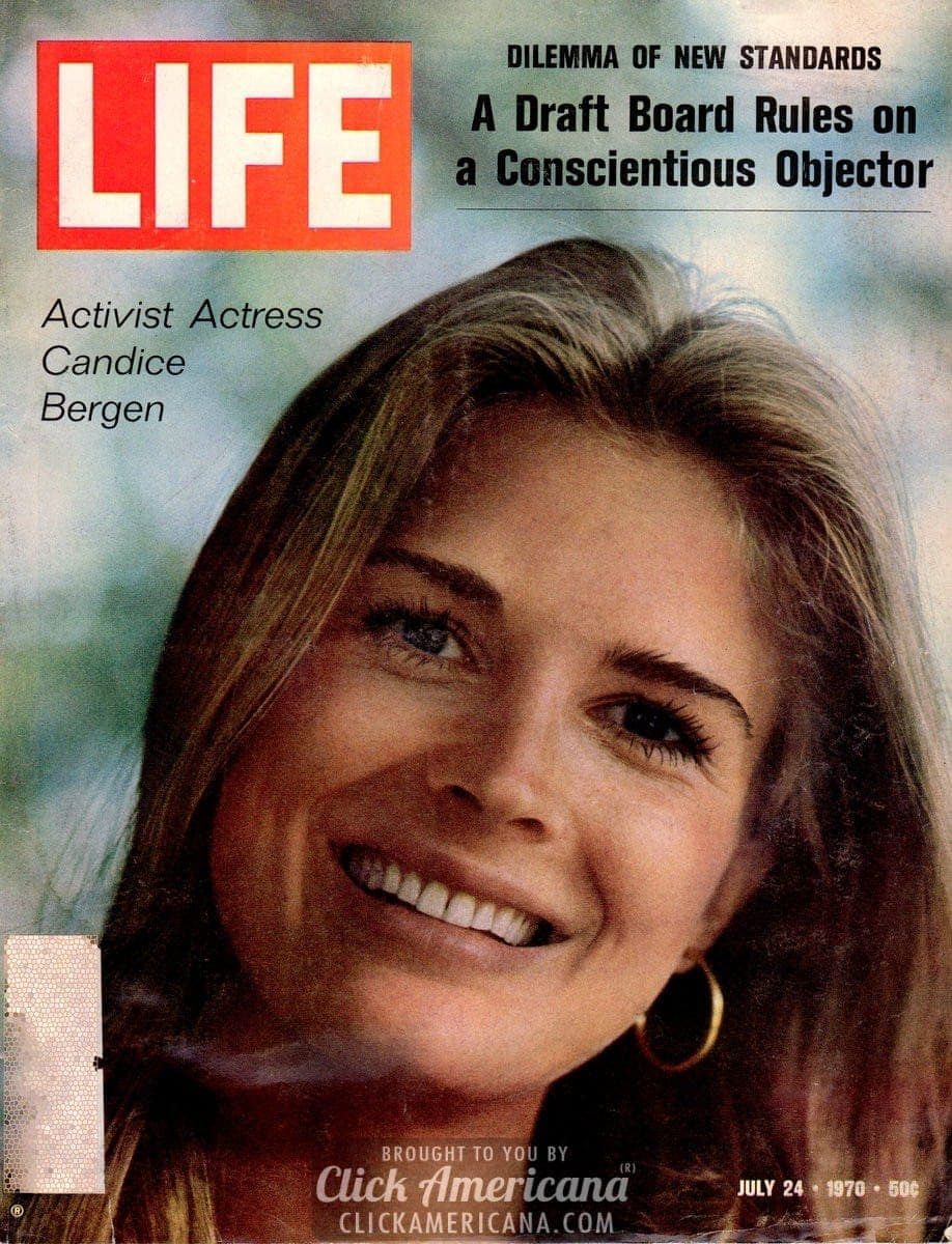 Candice Bergen on the cover of Life (1970)