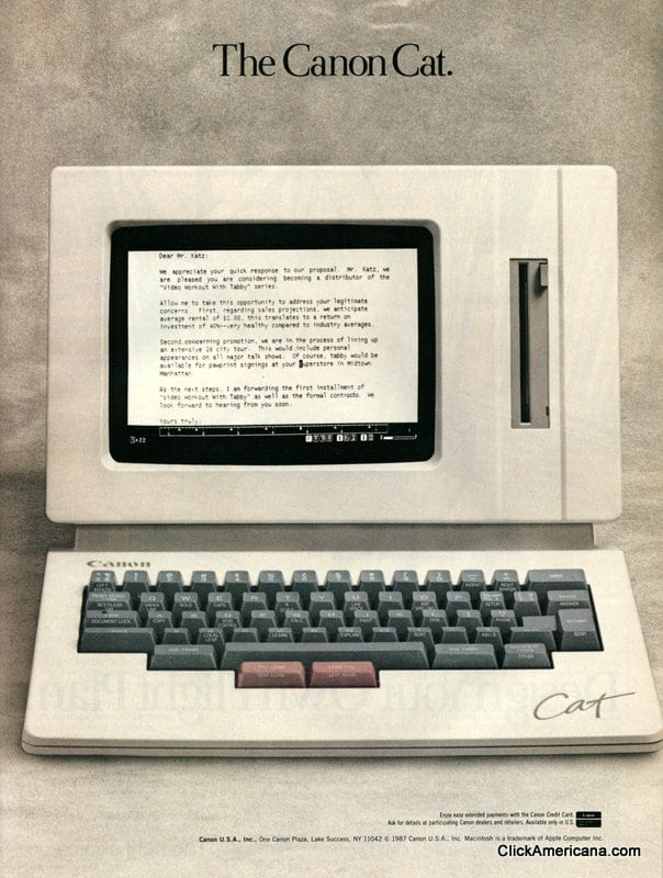 The Canon Cat word processor (1987)
