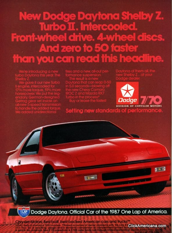 American Car Ads 1987 Click Americana