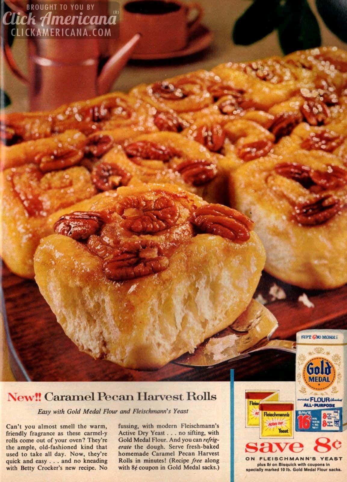 Caramel pecan harvest rolls 1962 click americana for October recipes