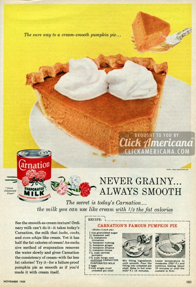 Carnation's Famous Pumpkin Pie (1959)