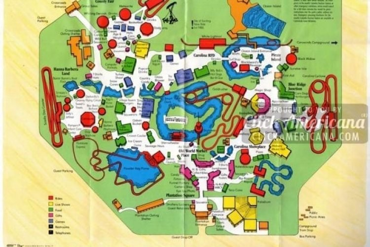 Carowinds Park in North & South Carolina (1987) - Click Americana on
