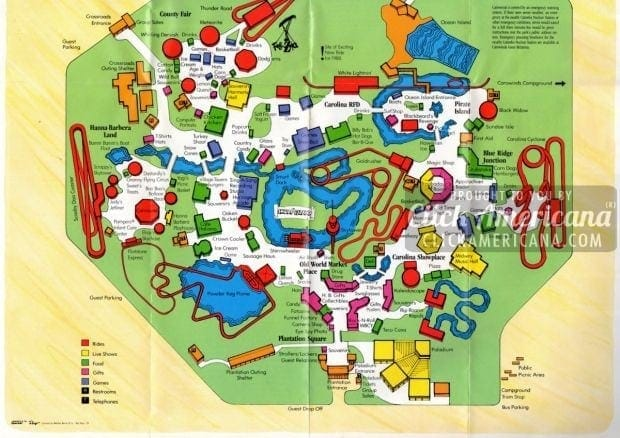 Carowinds Park in North & South Carolina (1987)