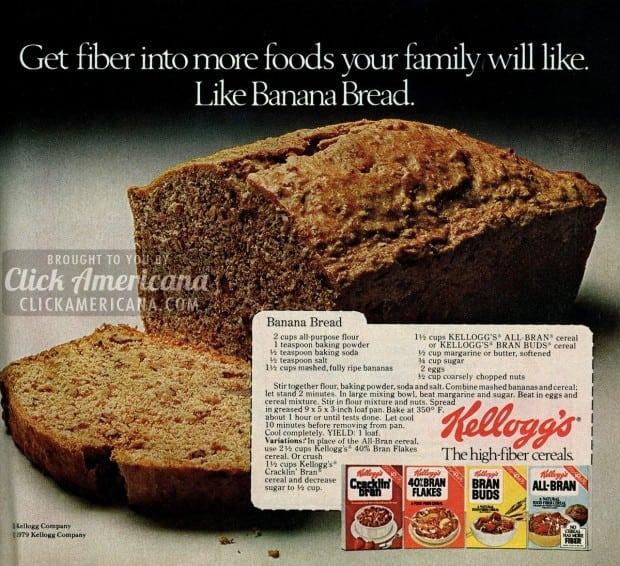 Banana bread with bran recipe (1979)