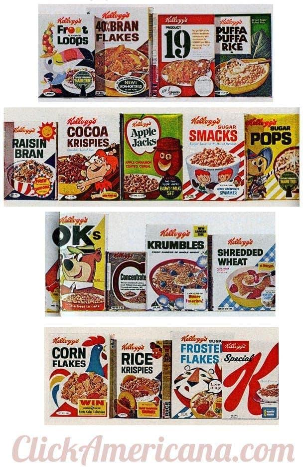 Classic Kellogg S Cereals 1967 Click Americana
