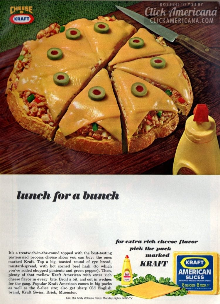 Kraft American Cheese in treatwich-in-the-round (1966)